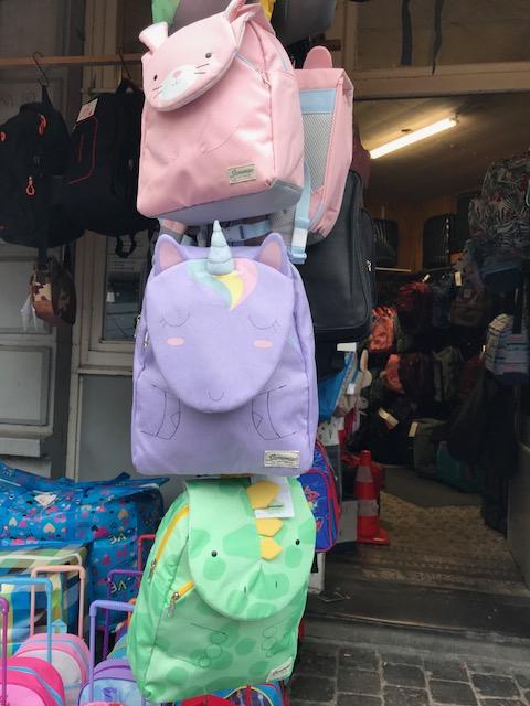 sac à dos pour enfant animaux violet vert rose